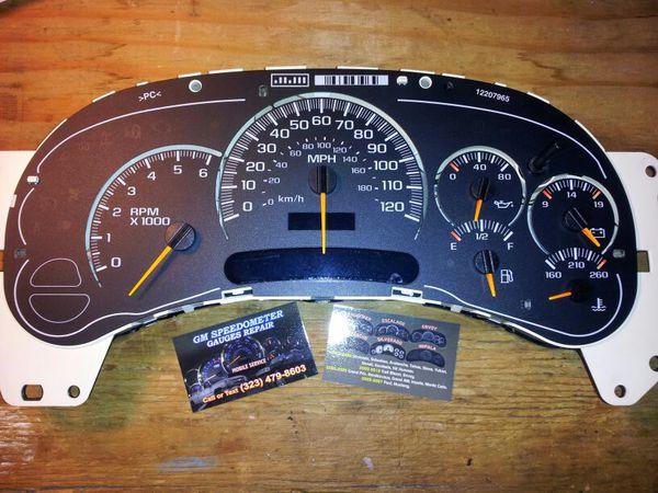 2002 chevy tahoe instrument cluster repair