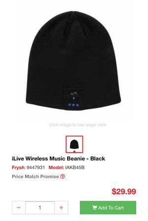 e7af2464157 iLive Wireless Music Beanie - Black for Sale in Richardson