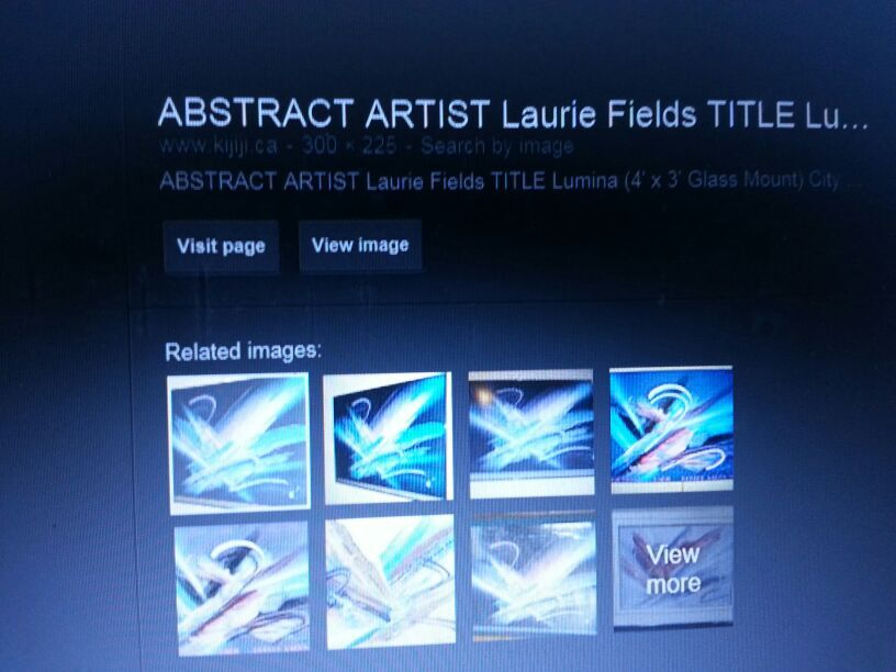 Abstract Art - Laurie Fields Titled: LUMINANT