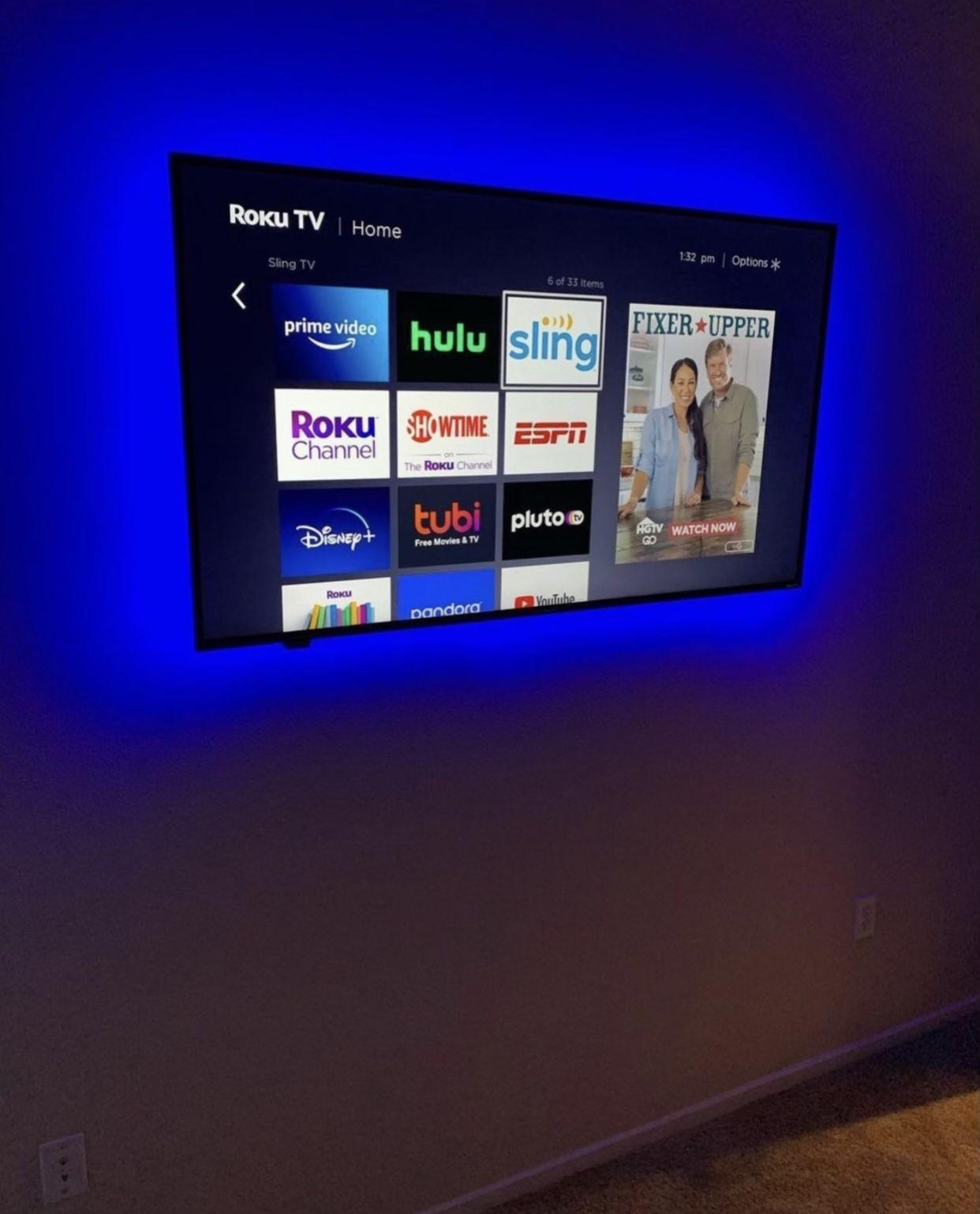 TV MOUNT I N S T A L L A T I O N / TELEVISION MOUNTING S E R V I C E S New Universal swivel tilt adjustable full motion wall bracket
