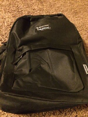 "Track backpack just got it brand new color black it brings a pocket for water good for kids size 16.5"" x 5/1,100 cu in. for Sale in Santa Monica, CA"