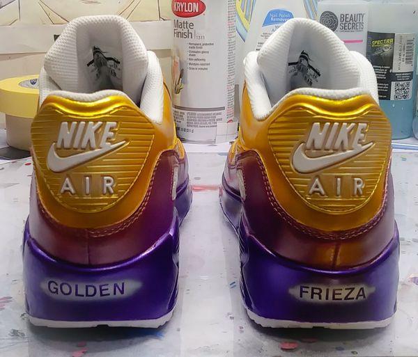 timeless design 1843e eb2df Custom Nike Air Max 90s Golden Frieza Edition size 10 and matching custom T  shirt sz XL