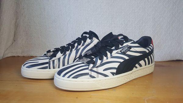 save off 026c2 af6ea Puma x Suede Paul Stanley KISS Zebra Animalize Size 9 New ...