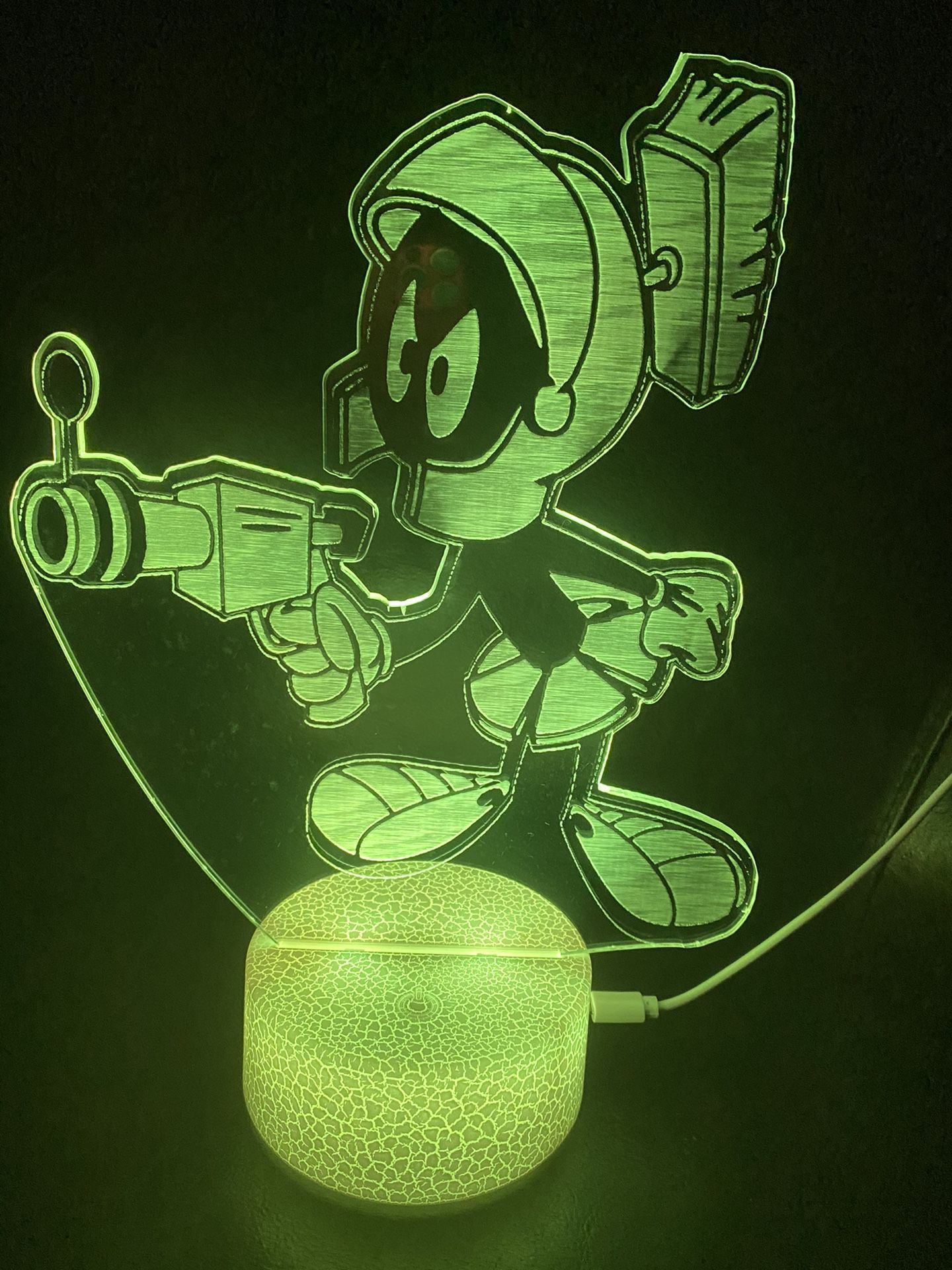 Beautiful Marvin The Martian 3d Lamp