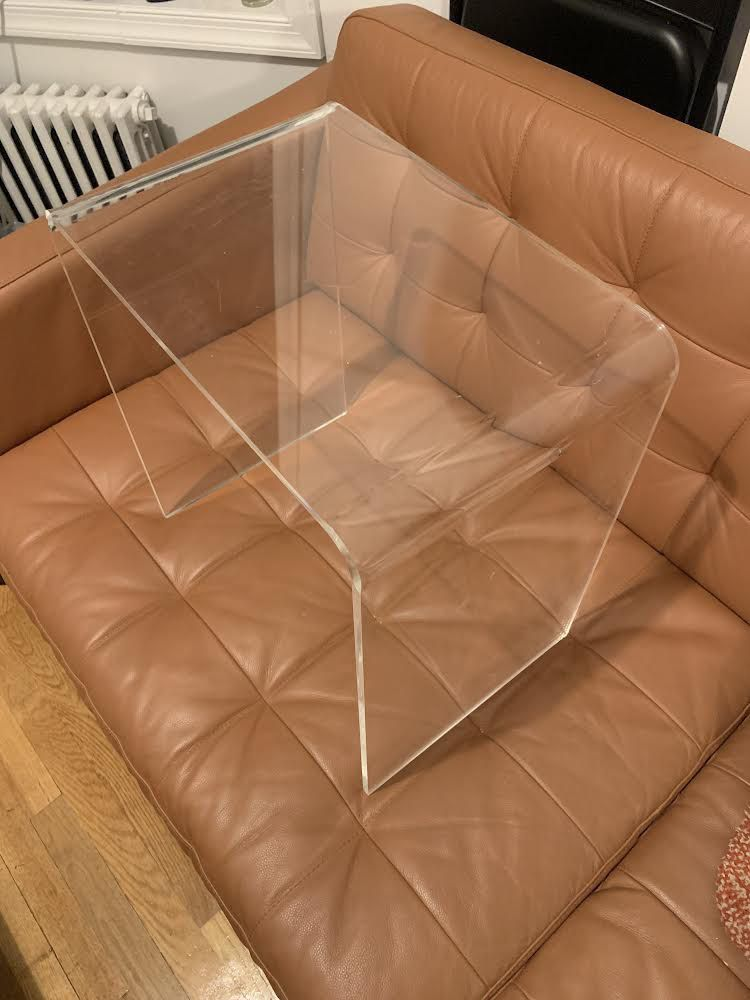 Two Acrylic End Tables