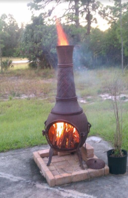 Large Cast Iron Chiminea 5 Tall For Sale In Fort Myers