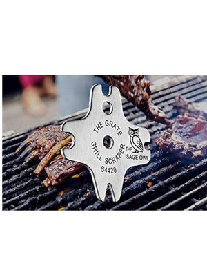 Stainless Steel Grill Grate Cleaner - Safer Than A Wire Brush for Cleaning BBQ Grills - A Heavy Duty Tool for Your Barbeque Grill Kit - Bristle Free for Sale in Dallas, TX