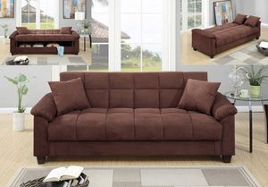 ADJUSTABLE SOFA CHOCOLATE MICROFIBER for Sale in Hollywood, FL
