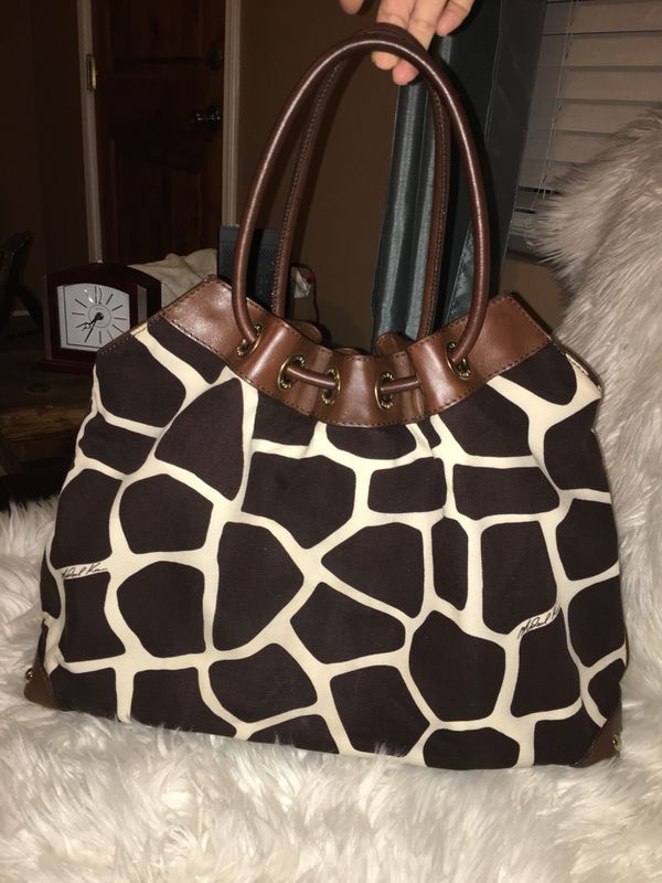 1e4d1da2a96c Auth Michael kors animal print hobo lg handbag canvas leather for ...
