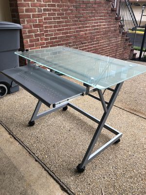 Desk with glass top for Sale in Fairfax, VA
