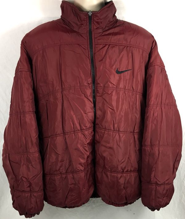 47ecb756488a Vintage Nike Big Swoosh Reversible Men s Puffer Jacket Size XXL for ...