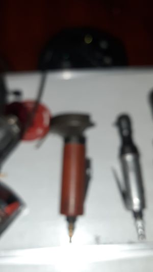 Photo Three item special HUSKEY AIR RATCHET gun three eights, HUSKEY air grinder, IR ingersole rand ,and a one fourth inch quarter ratchet