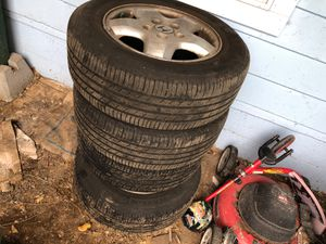 Photo Tires with rims for sale tires are in good shape still new