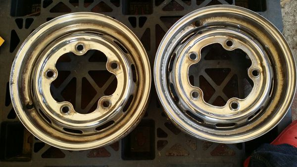 Re Chrome Rims >> Vw Origina 67 Chrome Rims Nice For Patina Look 4jx15 For Sale In Cerritos Ca Offerup