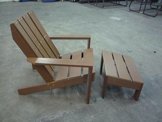 Threshold Bryant Faux Wood Patio Adirondack Chair With Ottoman