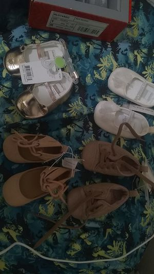 BRAND NEW BABY SHOES FOR LITTLE GIRLS NEVER BEEN WORN for Sale in Washington, DC