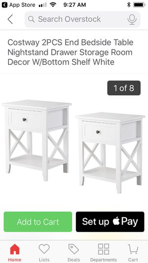 white bedside tables for Sale in Washington, DC