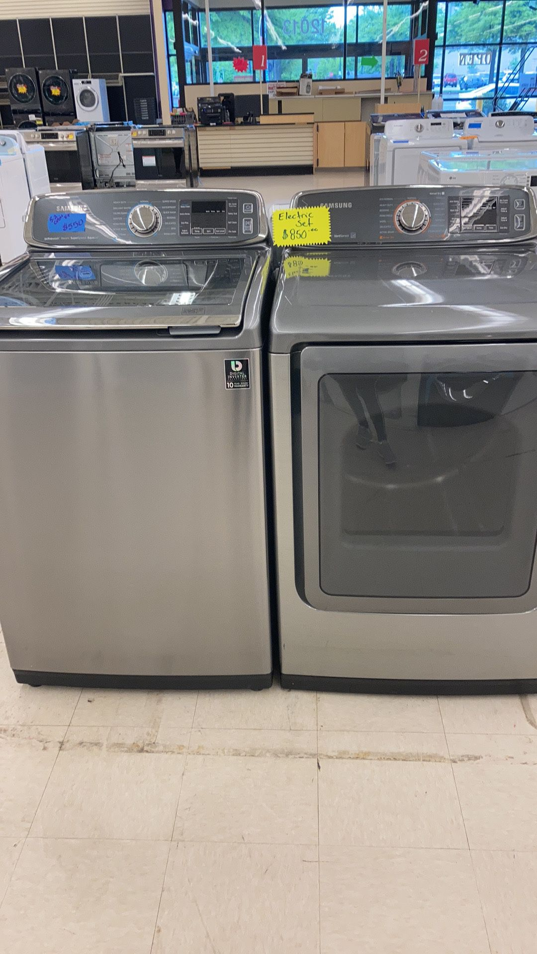 Used Top Load Washer And Dryer With Warranty Works Perfectly