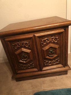 3 Piece Set, Solid Oak Wood. Thumbnail