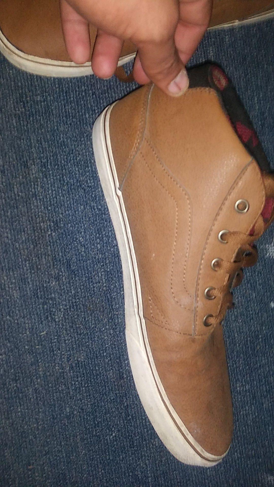 Vans high tops brown leather