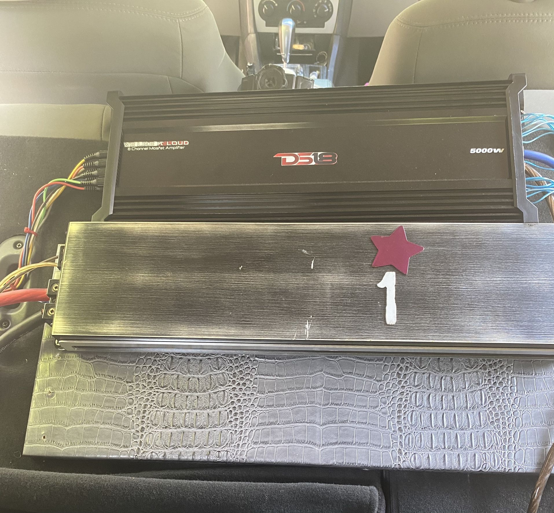 20 Inch PS1 Speaker Box And And 5000watt Amp System