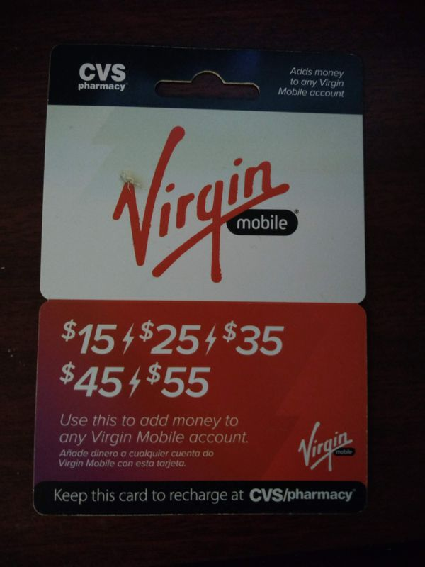25 doller virgin mobile top up card for Sale in Kissimmee, FL - OfferUp