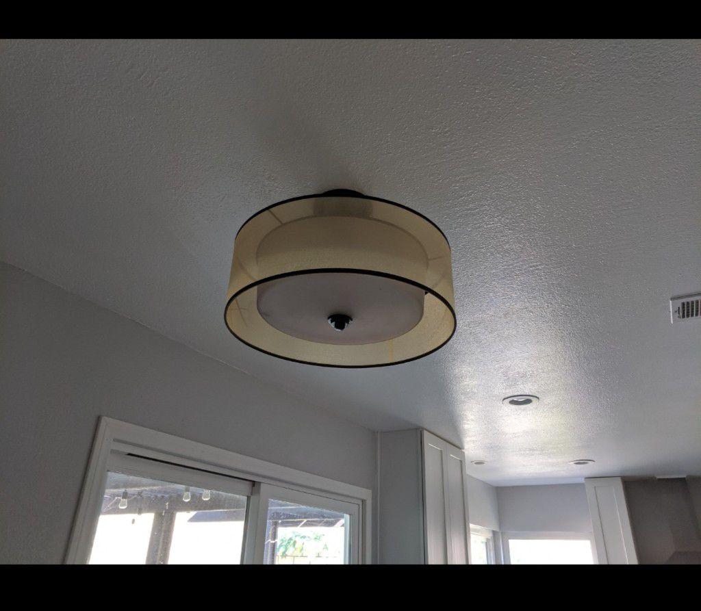 Light fixture, kitchen, ceiling light.