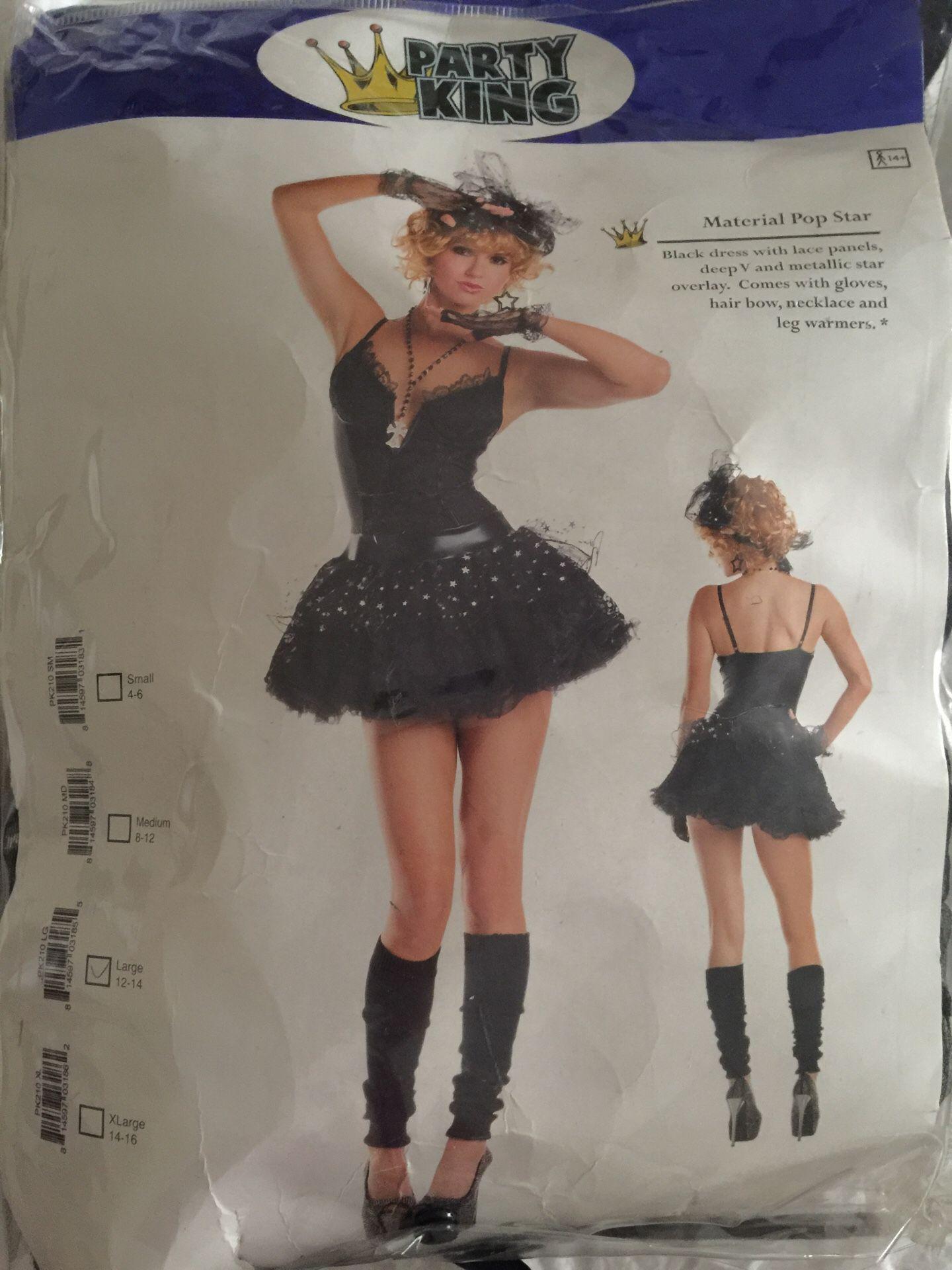 Ladies size L Madonna costume