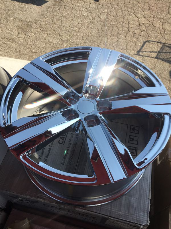 Re Chrome Rims >> 4 20x8 20x9 Camaro Zr1 Chrome Rims For Sale In Ontario Ca Offerup