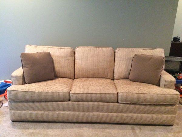 Thomasville Queen Sleeper Sofa Tan