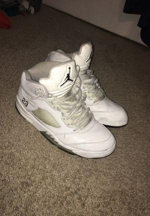 Jordan 5 White Metallic Size 11 for Sale in Alexandria, VA