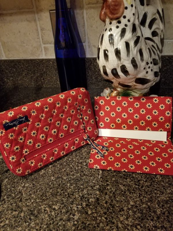 NWOT VERA BRADLEY BUSINESS CARD AND CREDIT CARD HOLDER AND MATCHING ...