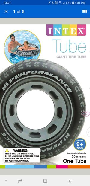 """Intex Giant 36"""" Tire Tube Inflatable Water Swimming Pool Ring Float Raft Lounger for Sale in Turlock, CA"""