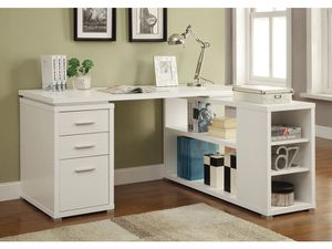 L-SHAPE WHITE DESK for Sale in Hialeah, FL