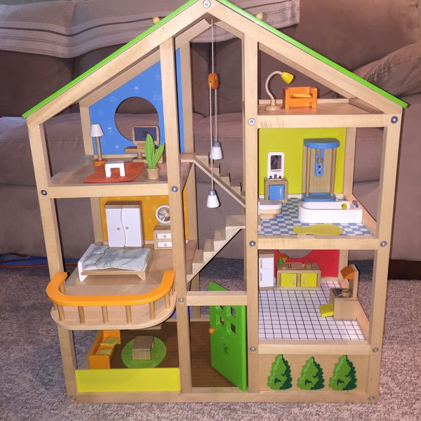 Hape Wooden Dollhouse Furnished And Four Sets For Sale In Ferndale Wa Offerup