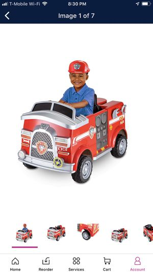 Paw Patrol Fire Truck For Kids For Sale In March Air Reserve Base Ca Offerup