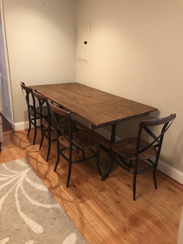 Reclaimed Wood Cast Iron Kitchen Set Boston