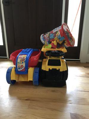 Mega Blocks with ride on truck for Sale in Fort Hunt, VA