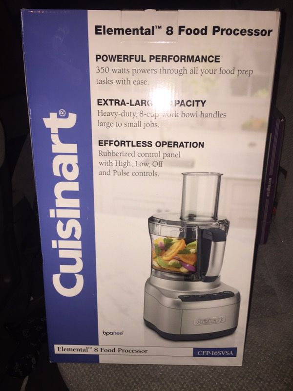 ee5b9f533e74 Cuisinart Elemental 8 Food Processor (CFP-16SVSA) for Sale in Tempe, AZ -  OfferUp
