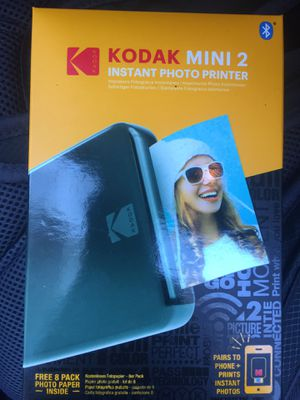 Kodak Mini 2 Bluetooth Instant Photo Printer for Sale in Bethesda, MD
