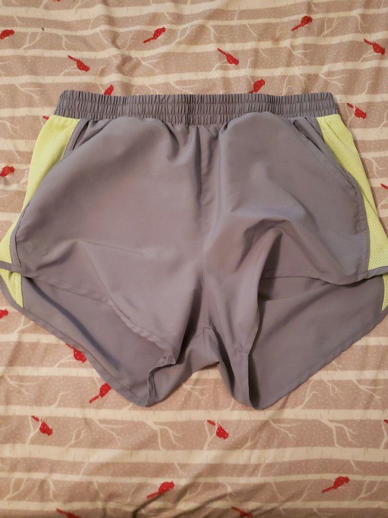 Gray And Yellow Shorts