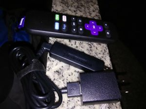 Roku streaming stick with charger cable and remote control for Sale in Washington, DC