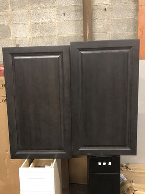 Kitchen cabinets black very nice great condition for Sale in Hyattsville, MD