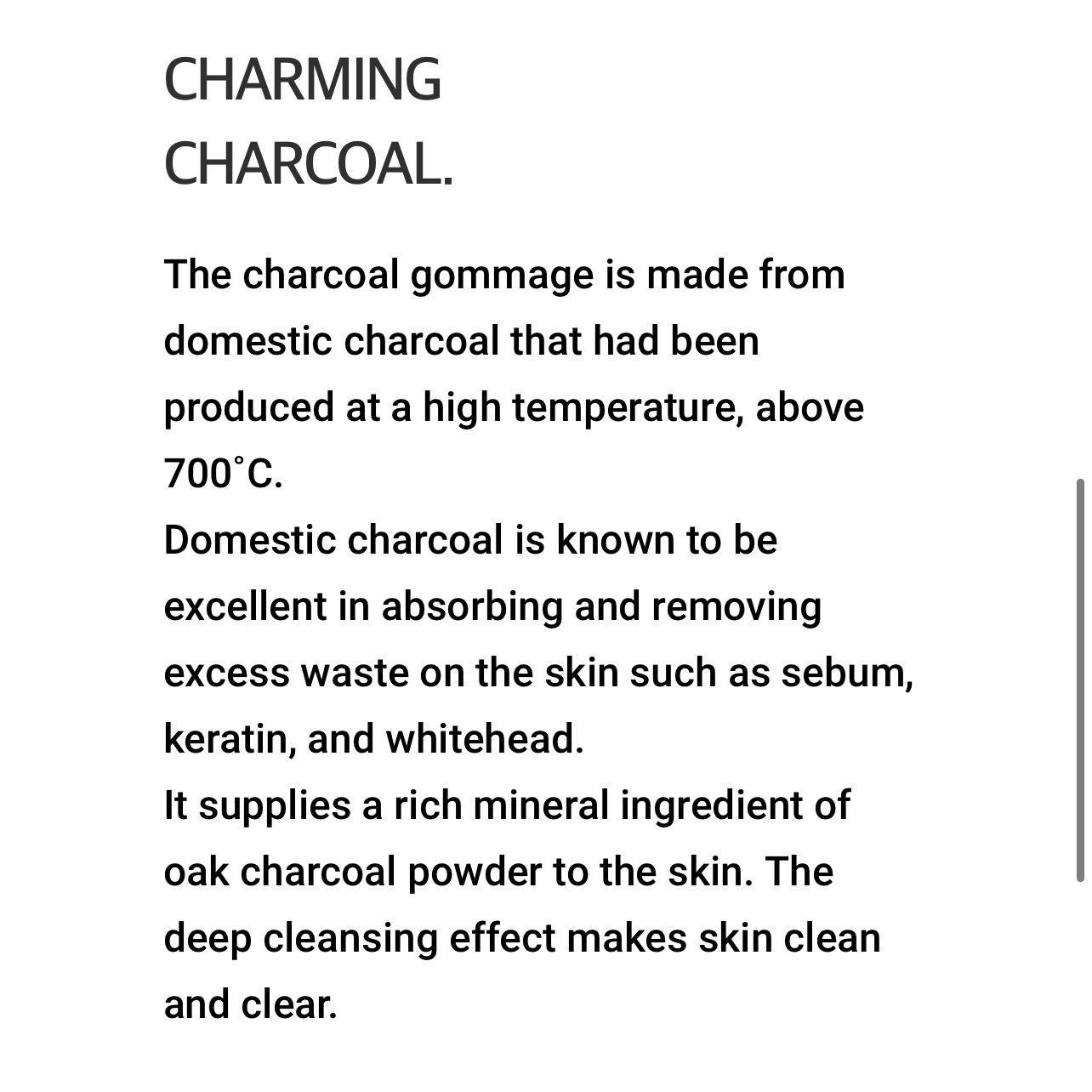 RARE unpa. Cha Cha Gommage Charming Charcoal Peeling Gel LUXURY FULL SIZE 4 oz NEW NWOB Men Women Unisex