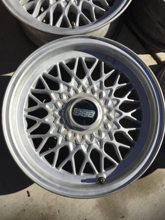 BBS 4x100 15x7 Basketweave Wheels