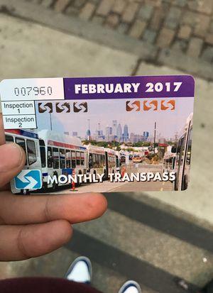 Monthly February Septa Transpass for Sale in Philadelphia, PA