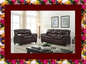 Burgundy sofa and love seat free delivery for Sale in Alexandria, VA