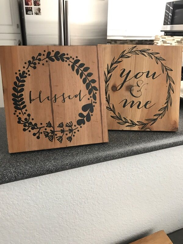 Pair of Hobby lobby wood signs for Sale in San Diego, CA - OfferUp