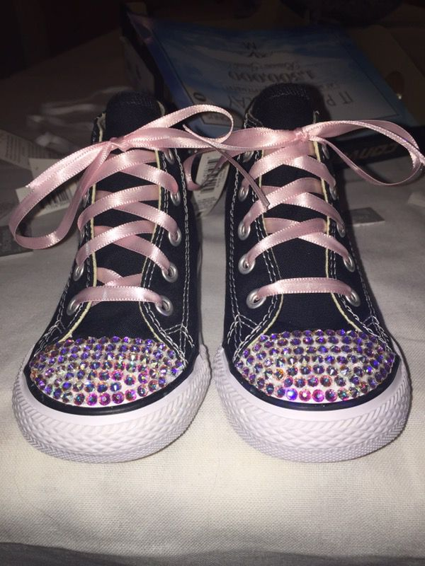 00e1515d17d0d8 Custom hand made bedazzled converse  shoes for sale for Sale in ...