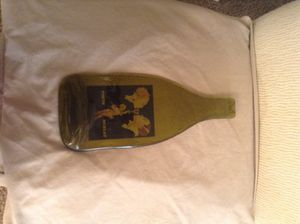 Authentic wine bottle pressed glass collectible for Sale in Scottsdale, AZ